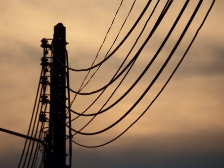 Free Stock Photo of Electricity Lines Silhouette