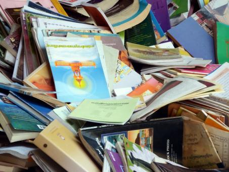 Free Stock Photo of Pile of old books