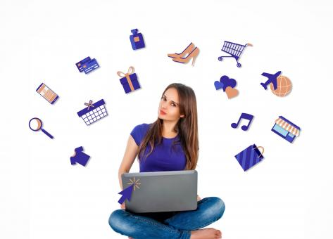 Free Stock Photo of  Woman Shopping Online
