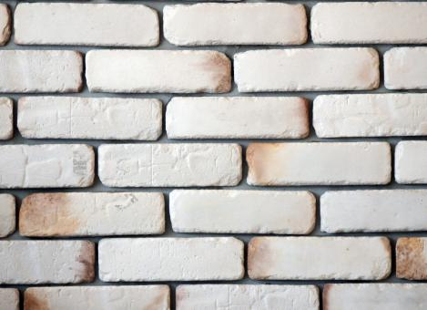 Free Stock Photo of White Brick Wall Background