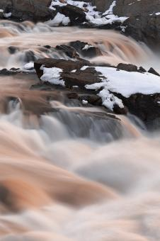 Free Stock Photo of Great Falls - Ruby Winter HDR