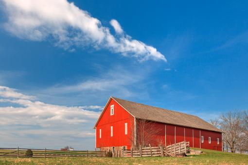 Free Stock Photo of Spangler House Farm - HDR
