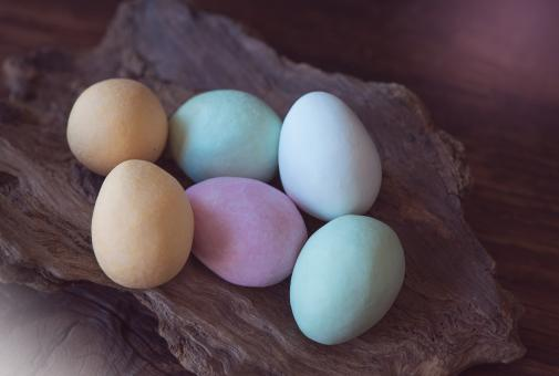 Free Stock Photo of Chocolate Eggs