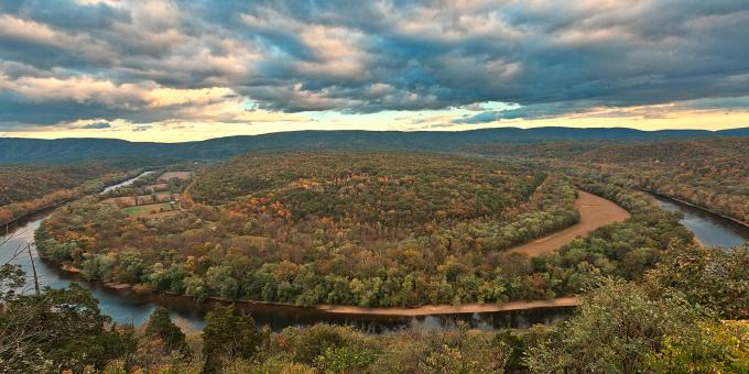 Free Stock Photo of Potomac Horseshoe Overlook - HDR