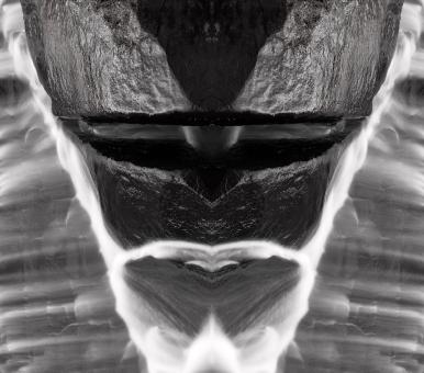 Free Stock Photo of Alien Tribal Mask - Black & White