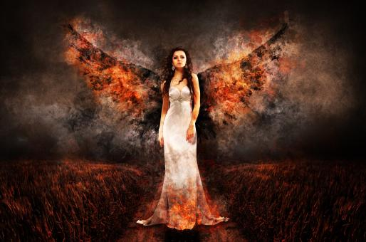 Free Stock Photo of Angel of Fire