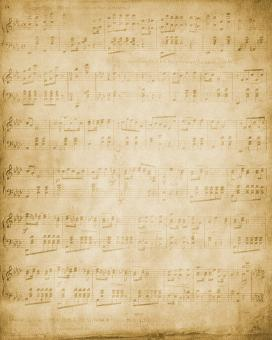 Free Stock Photo of Vintage Musical Notes
