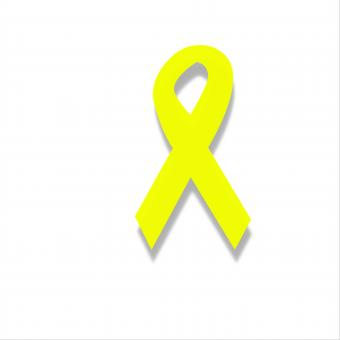 Free Stock Photo of Yellow Ribbon