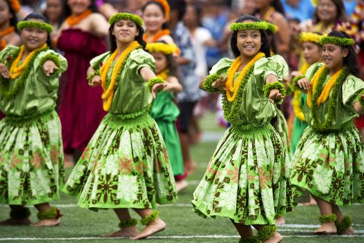 Free Stock Photo of Hula Dancers