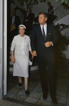 Free Stock Photo of Golda Meir with Kennedy
