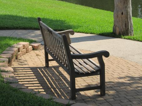 Free Stock Photo of Brown Bench