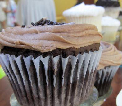Free Stock Photo of Chocolate Cupcake