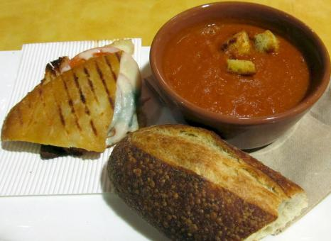 Free Stock Photo of Soup with Bread