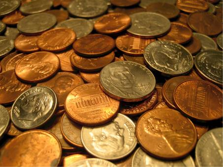 Free Stock Photo of Bunch of Coins