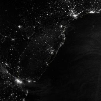 Free Stock Photo of South America from Space