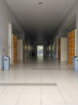 Free Stock Photo of School Corridor