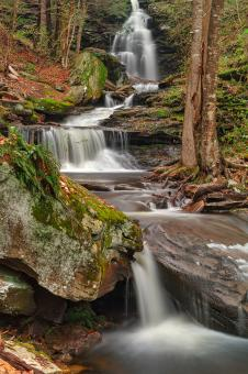 Free Stock Photo of Ricketts Glen Waterfall Layers - HDR