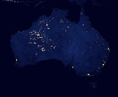 Free Stock Photo of Australia From Space