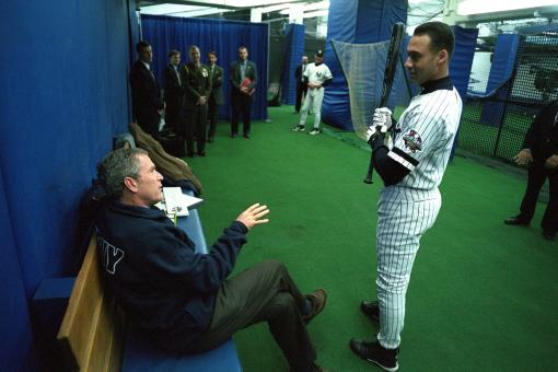 Free Stock Photo of George Bush with Player