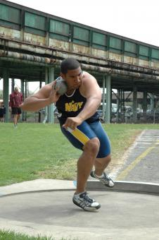 Free Stock Photo of Shot Putter