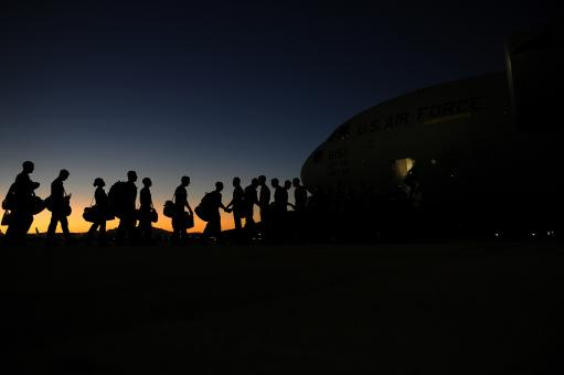 Free Stock Photo of Airmen Boarding