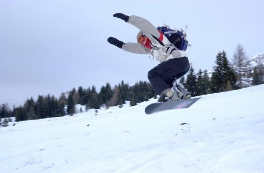 Free Stock Photo of Snowboarding