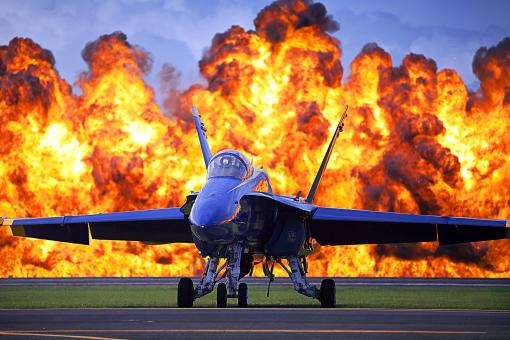 Free Stock Photo of Blue Angels Jet