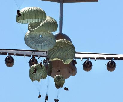 Free Stock Photo of Military Paratroopers