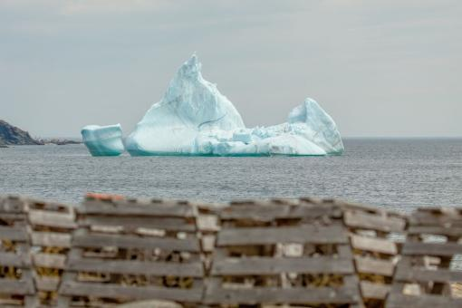 Free Stock Photo of Lobster Pots and Iceberg