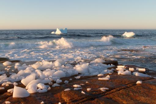 Free Stock Photo of Coastal Icebergs Melting
