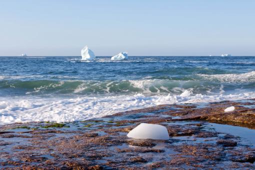 Free Stock Photo of Coastal Icebergs in Iceberg Alley