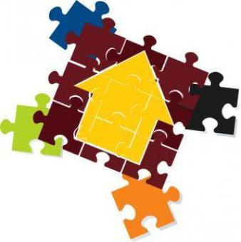 Free Stock Photo of Vector Home Jigsaw Puzzle