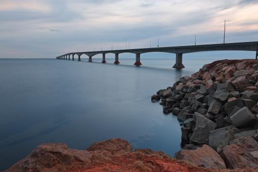 Free Stock Photo of Confederation Twilight Bridge - HDR
