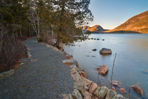 Free Stock Photo of Jordan Pond Trail - HDR
