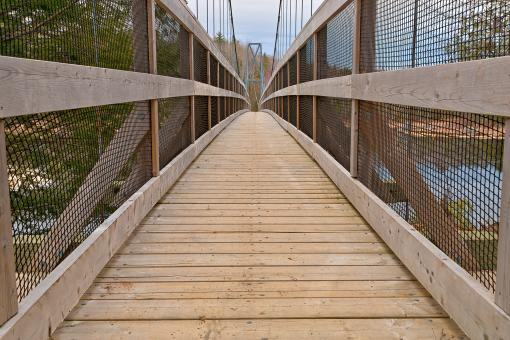 Free Stock Photo of Ritchie Suspension Bridge - HDR