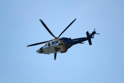 Free Stock Photo of State Police Helicopter