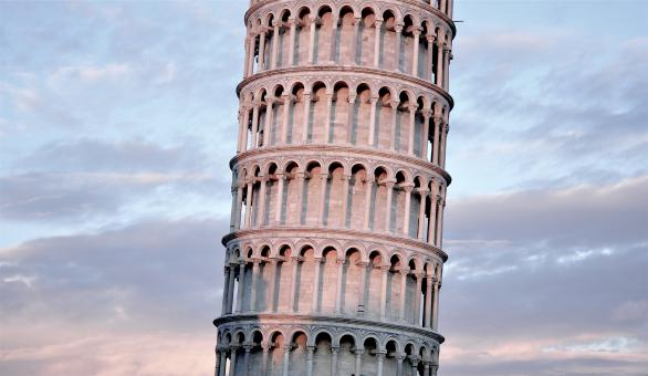Free Stock Photo of Leaning Pisa Tower