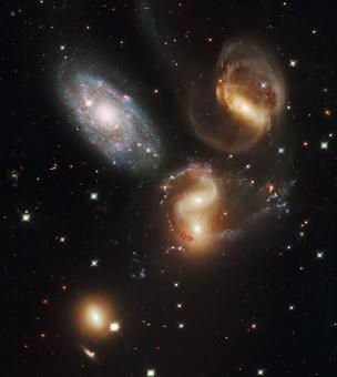 Free Stock Photo of Multiple Galaxies