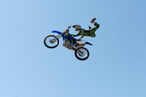 Free Stock Photo of Bike Jumping