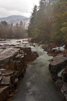 Free Stock Photo of Misty Rocky Gorge - HDR