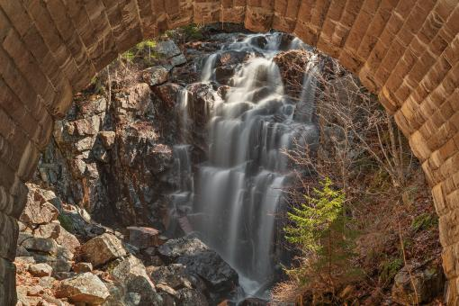 Free Stock Photo of Hadlock Arch Falls - HDR