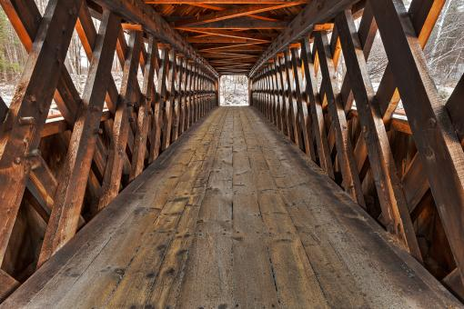 Free Stock Photo of Jack O'Lantern Covered Bridge - HDR