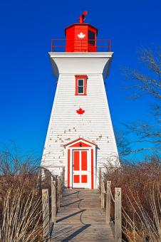 Free Stock Photo of Canadian Lighthouse - HDR