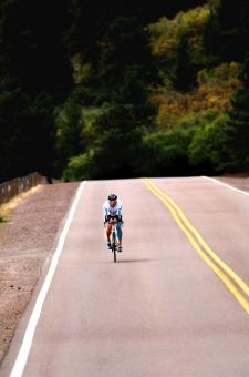 Free Stock Photo of Cycling Alone