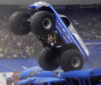Free Stock Photo of Monster Truck Racing