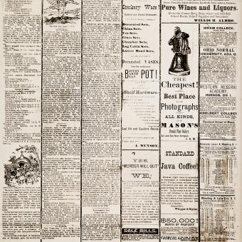 Free Stock Photo of Vintage Newspaper Print