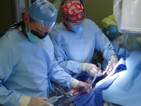 Free Stock Photo of Group of Surgeons Operating