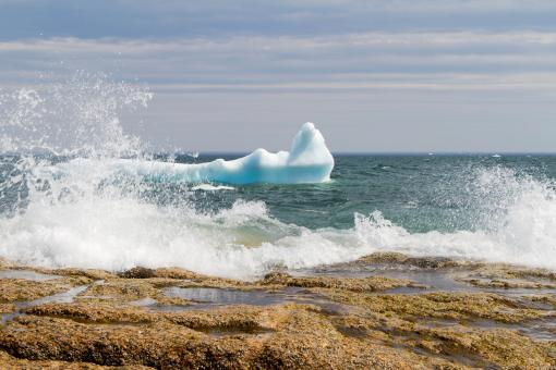 Free Stock Photo of Melting Iceberg in the Waves