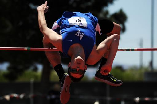 Free Stock Photo of Successful High Jump