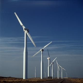 Free Stock Photo of Windmills on the Way